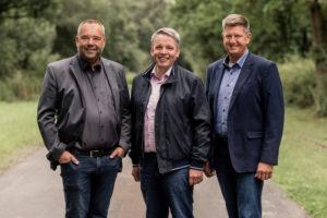 Für den Kreistag: Hans-Hermann Borggrefe , Heino Mackenstedt, Klaus Abeling