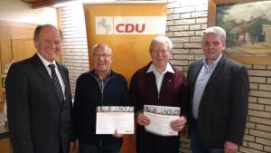 Im Bild v.l.n.r.: Karl Heinz Klare, Fritz Jübner, Werner Meyer, Heino Mackenstedt